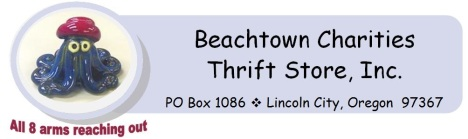 2016 beachtown charities thrift store, inc logo